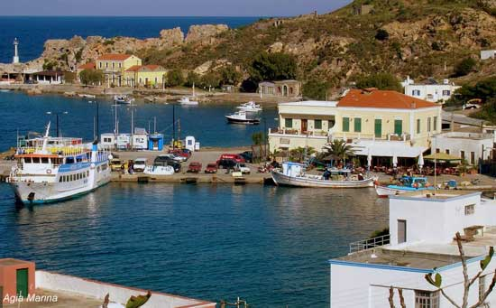 the harbour at Agia Marina